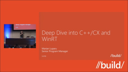 Diving deep into C++ /CX and WinRT