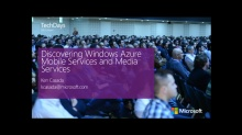 Discovering Windows Azure Mobile und Media Services (e)