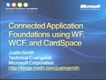 VS2008 Training Kit: Connected Application Foundations using WCF, WF, and Windows CardSpace