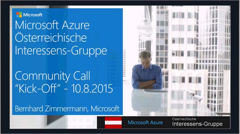 Azure Community Call - Kick Off