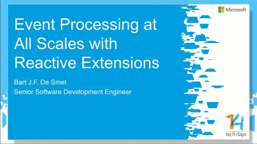 Event processing at all scales with Reactive Extensions