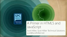 A Primer in HTML5 and Javascript