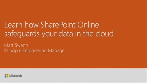 Learn how SharePoint safeguards your data in the cloud
