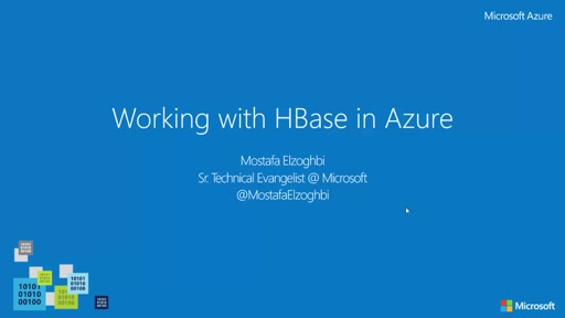 Working with HBase in Azure