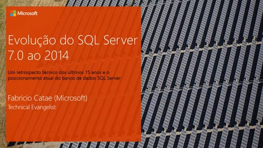 Evolução do SQL Server: 7.0 ao 2014