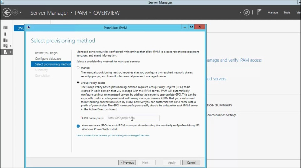 (Module 5) Provisioning IPAM in Windows Server 2012 R2