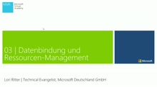 03 | Datenbindung und Ressourcen-Management
