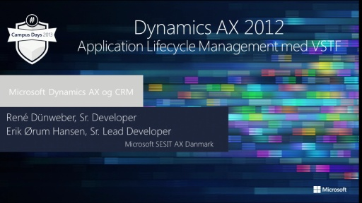 Dynamics AX 2012Application Lifecycle Management