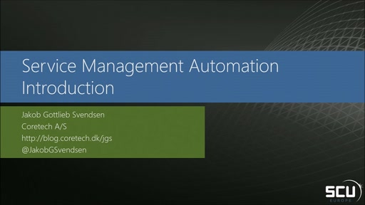 Service Management Automation - Introduction