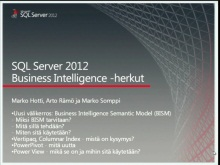 TechNet TV - SQL Server 2012 osa 3/3