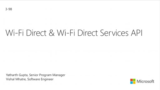 Wi-Fi Direct and Wi-Fi Direct Services API