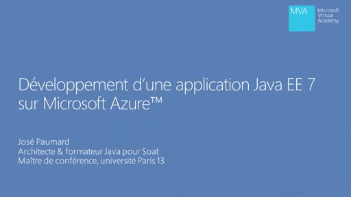 Application Java EE 7 dans Microsoft Azure - Introduction