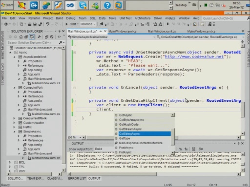 Async Programming using C# 5.0 and Tasks in .NET 4.5 and WinRT - Part 2
