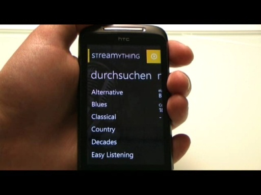 Streamything - WP7 SHOUTcast Player App