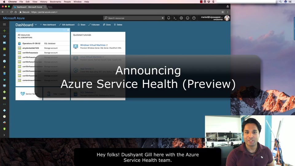 Announcing Azure Service Health