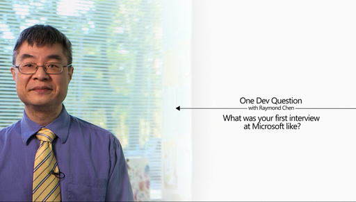 One Dev Question with Raymond Chen - What was your first interview at Microsoft like?