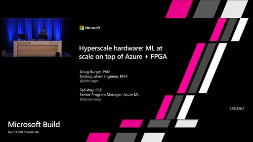 Hyperscale hardware: ML at scale on top of Azure + FPGA