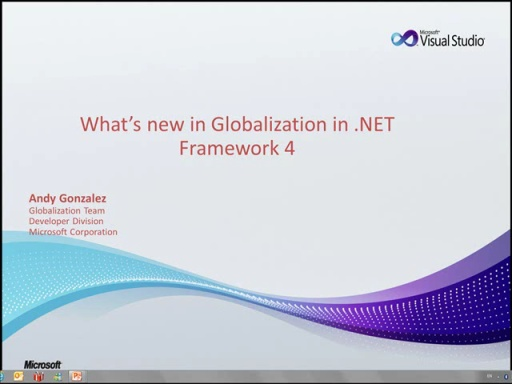 WR Series: What's new in Globalization in .NET Framework 4