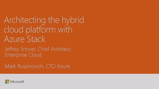 Review Microsoft Azure Stack with Jeffrey Snover and Mark Russinovich