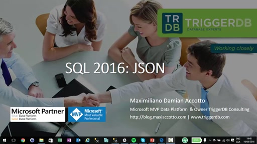 SQL 2016: JSON en la base de datos