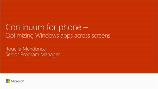 Optimize Windows apps across screens with Continuum for phone