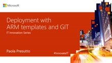 Deployment with ARMtemplates and GIT