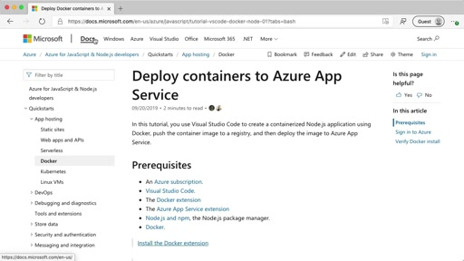 Deploy containers to Azure App Service