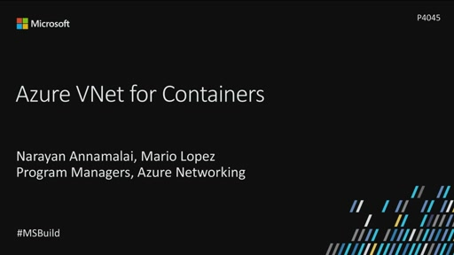 Azure VNet for containers