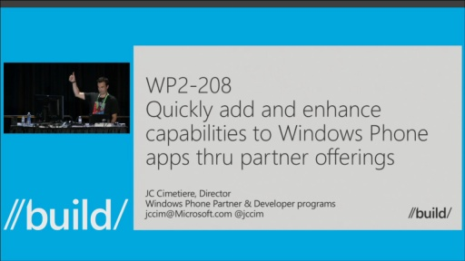 Quickly Add and Enhance Capabilities to Windows Phone Apps Thru Partner Offerings
