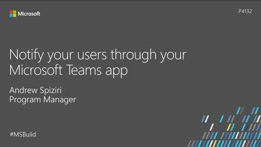 Notify your users through your Microsoft Teams app