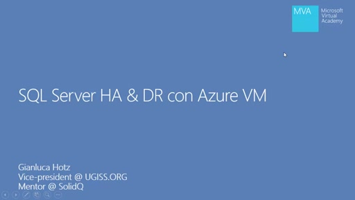 SQL Server HA and DR con Azure VM