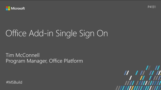 Office add-in single sign-on