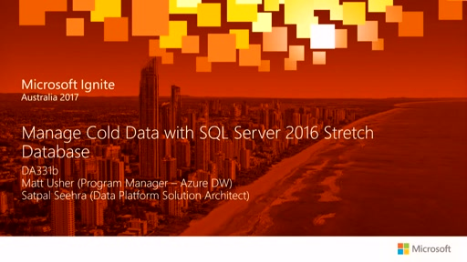 Manage Cold Data with SQL Server 2016 Stretch Database