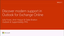 Discover modern support in Outlook for Exchange Online