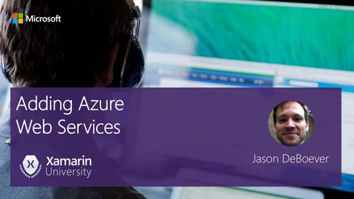 Module #4 - Adding Azure Web Services