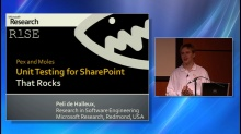 Pex - Unit Testing of SharePoint Services that Rocks!