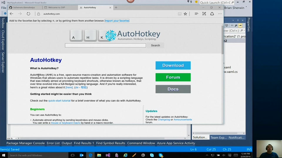 SOLVED] How to resolve AutoHotkey exception