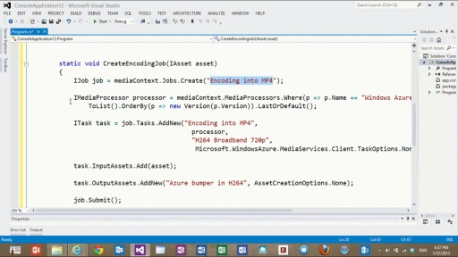 How to Build Customized Media Workflows Using the Media Services .NET SDK - Part II