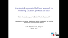 A restricted composite likelihood approach to modelling Gaussian geostatistical data