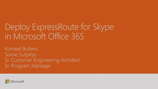 Deploy ExpressRoute for Skype in Microsoft Office 365