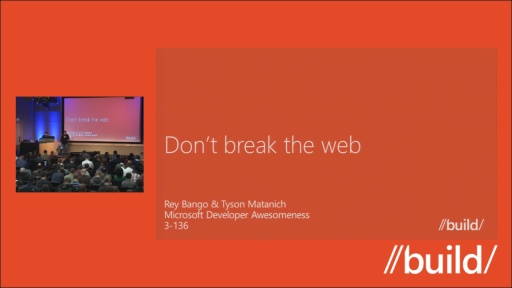 Don't break the web: Why web standards matter and how to use them responsibly.