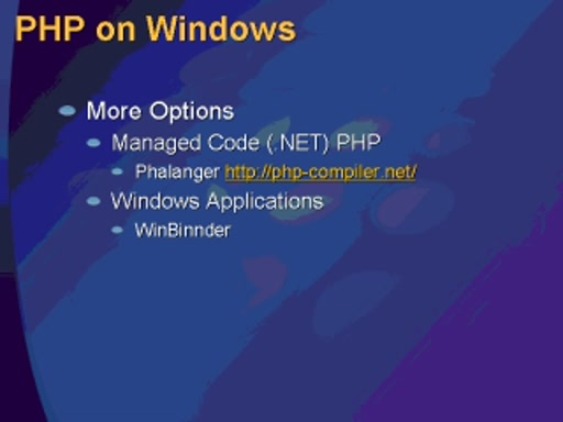 Interop between PHP and the Windows Platform