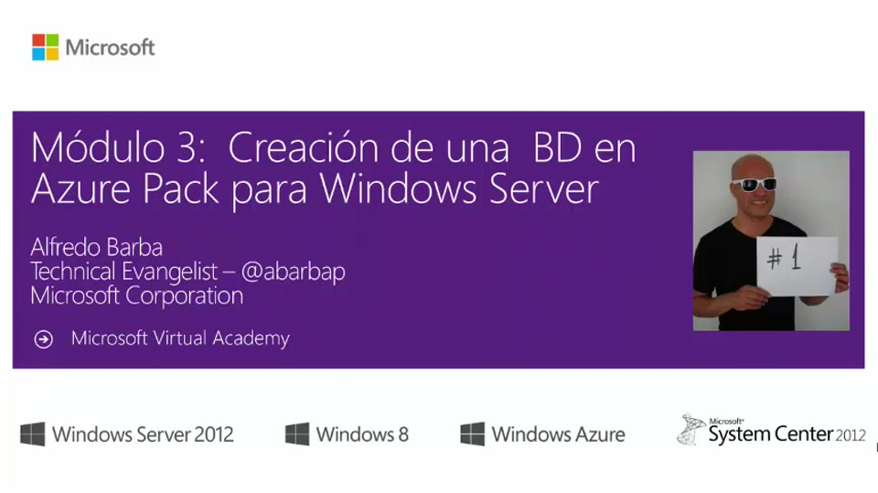 Mod 3 Creación de una  BD en Azure Pack para Windows Server – Parte 1 INTRO