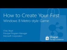 Shape'12: How to create your first Windows 8 Metro-Style game (short)