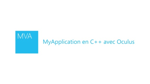 MyApplication en C++ avec Oculus