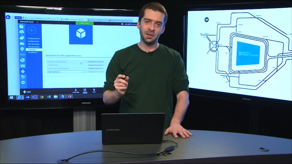 Azure Mobile Services, AAD and O365: Authentication and identity across services