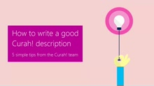 How to write a good Curah! description