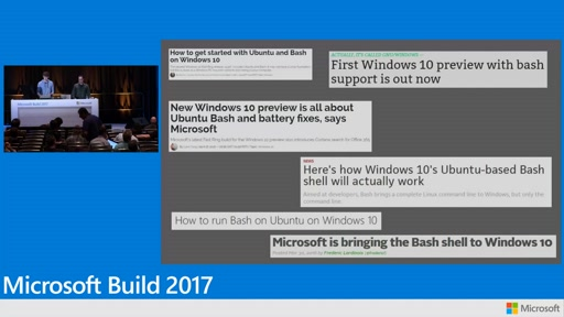 Using the Windows Subsystem for Linux and the Windows Console for a next generation development experience