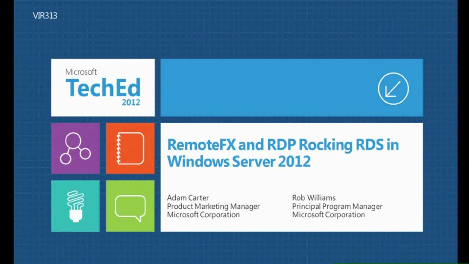RemoteFX and RDP Rocking RDS in Windows Server 2012