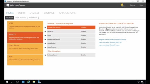 Windows Server 2016 Essentials Azure Active Directory Integration Demo